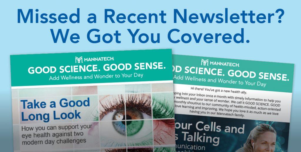 """Good Science. Good Sense."" Newsletter Archive"