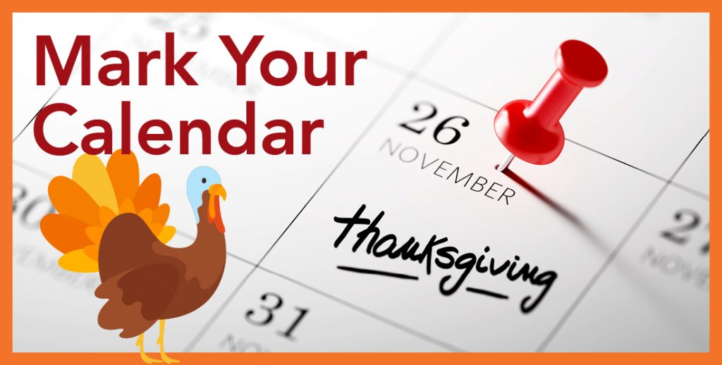 Mannatech's Thanksgiving and Shipping Schedules